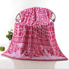 Bulk Wholesale Preminum Cotton Zero Twist Yarn Dyed Pattern Bath Towel