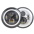 "Top quality motorcycle 7 inch led headlight harley 7"" led chrome halo daymaker"