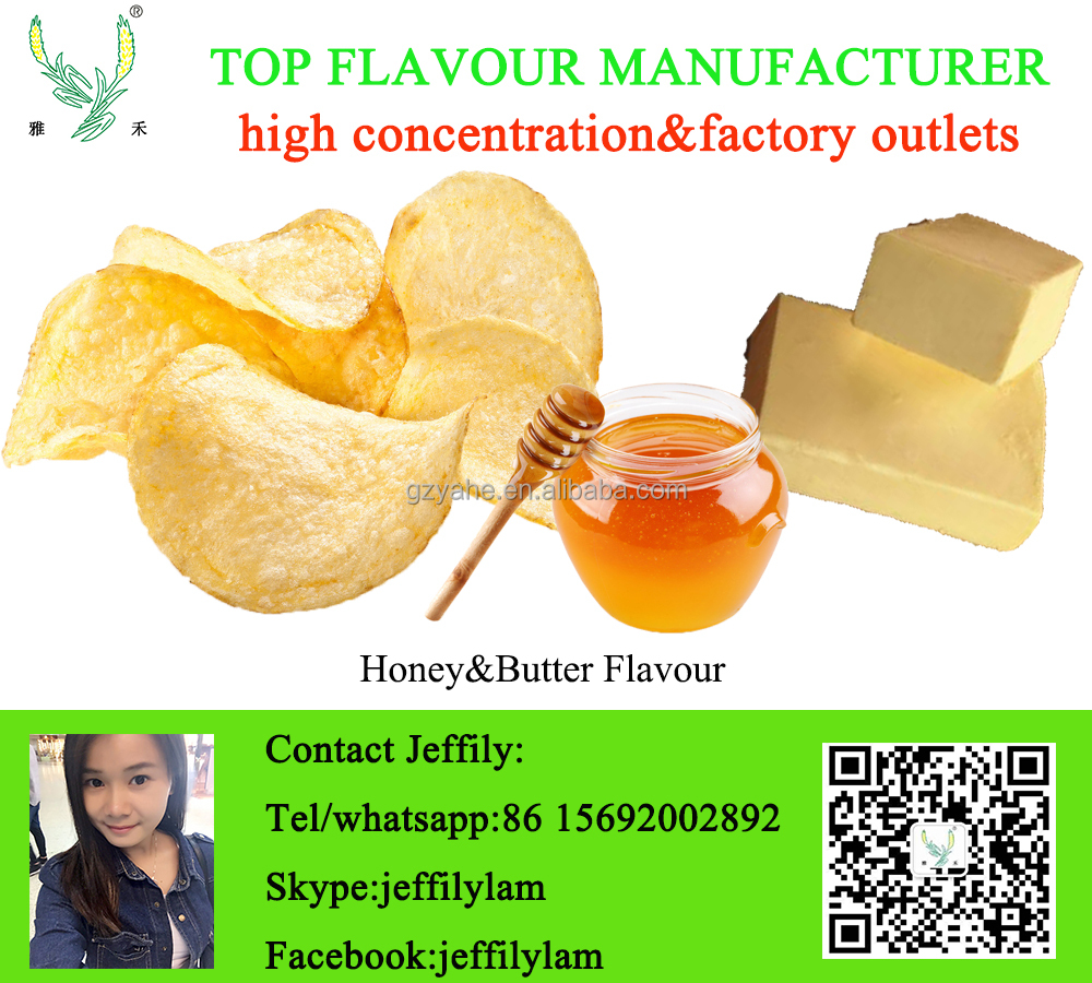 High concentration honey and butter seasoning powder flavour for chips and cheese ball
