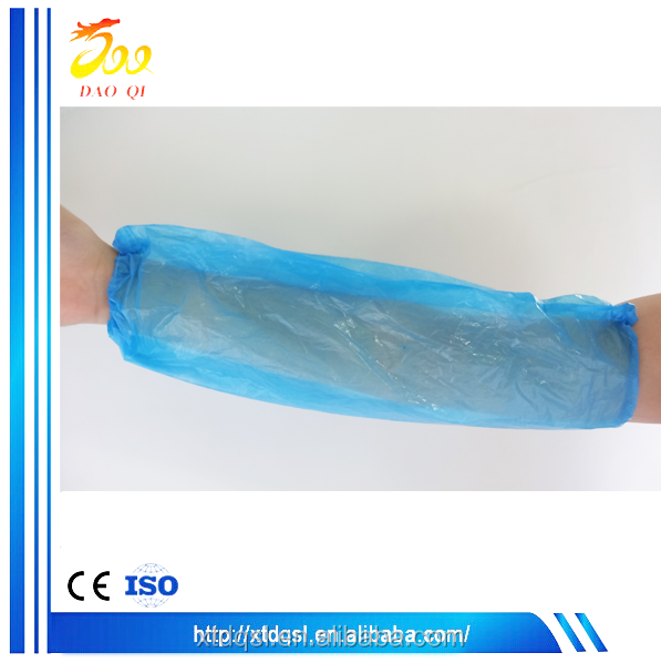 PE sleeve cover blue safety arm sleeve food handling