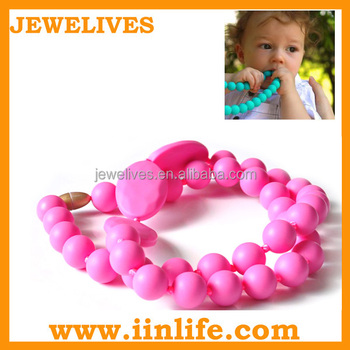 BPA free teething jewelry food grade silicone beads