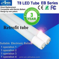 T8 LED lamps work with electronic ballast;Retrofit LED T8;Direct replace lamps T8
