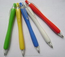Cucumber shaped lovely colored normal plastic click ball pen with best service CH-6105