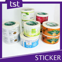 Custom Clear Adhesive Sticker Label&Roll Packaging Sticker