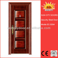Security windows wrought iron door