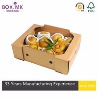 Alibaba China full color printed fruit packaging box design foldable strong corrugated box for grapes packing