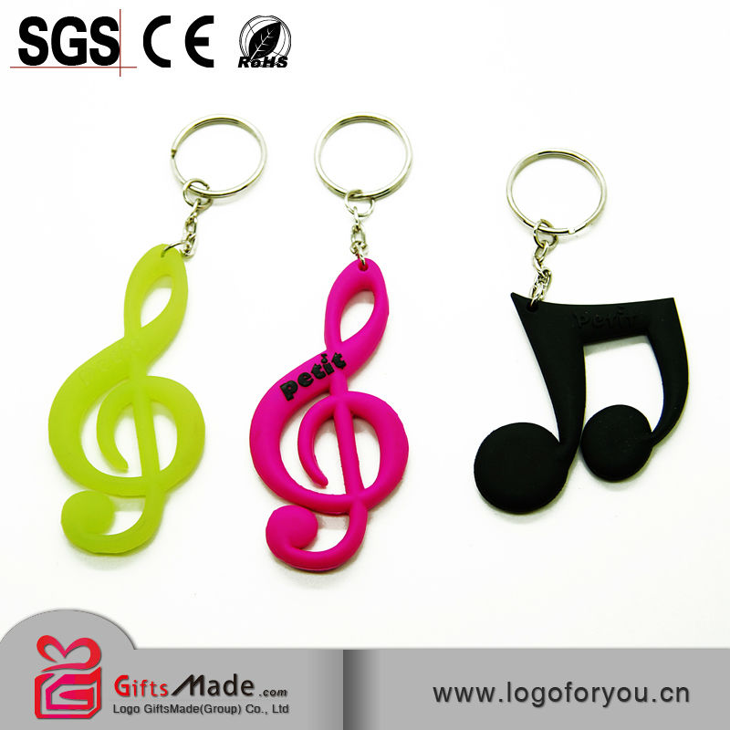 Fashional wholesale custom rubber motorcycle keychains