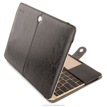 Funky design PU Leather Soft Waterproof laptop pu case black for retina 12 on sale