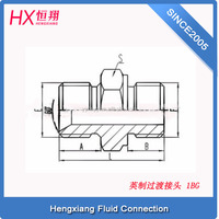 Hydraulic pipe fittings for hex nipple