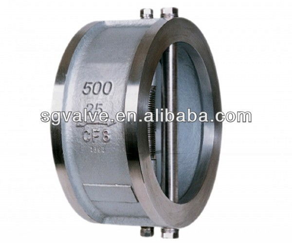 Wafer Type Double Disc/Dual Plate Swing Check Valve