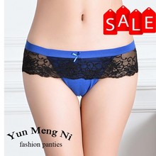 New model hot sexy cotton laides g-string sexy ladies open g-string with lace