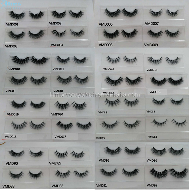 Wholesale 3D mink eyelashes lashes strips clear band eye lashes strips