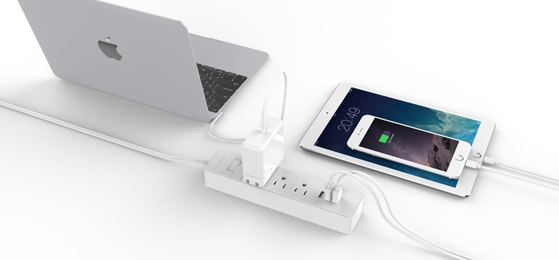 ORICO LPC-3A3U-US Desktop Surge Protector 6*AC+3*USB Charger used in home computer house