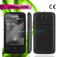 lenovo a269 dual sim card single core 3.5 inch good screen slim qwerty keypad mobile phone
