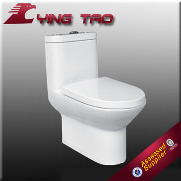 Washdown gravity flushing Slow-down soft closing seat cover ceramic water saving floor mounted toilet bowl