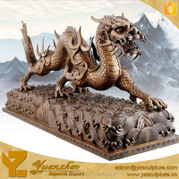 outdoor decorative chinese large bronze dragon for sale