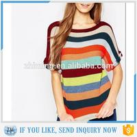 Tops for women 2016 wool short sleeve sweater handmade sweater design for girl computerized knitting machine sweater