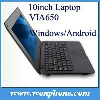 Good 10.1inch mini Laptop VIA WM8850 1.5GHZ with camera and 2 USB port