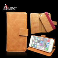 Guangzhou factory top grain leather 2 in 1 phone case for iphone 6s