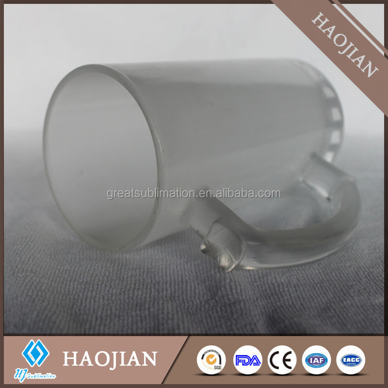 16oz sublimation blank frosted glass beer steins with heat transfer coating