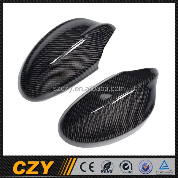 E90 3 Series Car Racing Replace Auto Carbon Side Rearview Mirror Cover For BMW 05-08