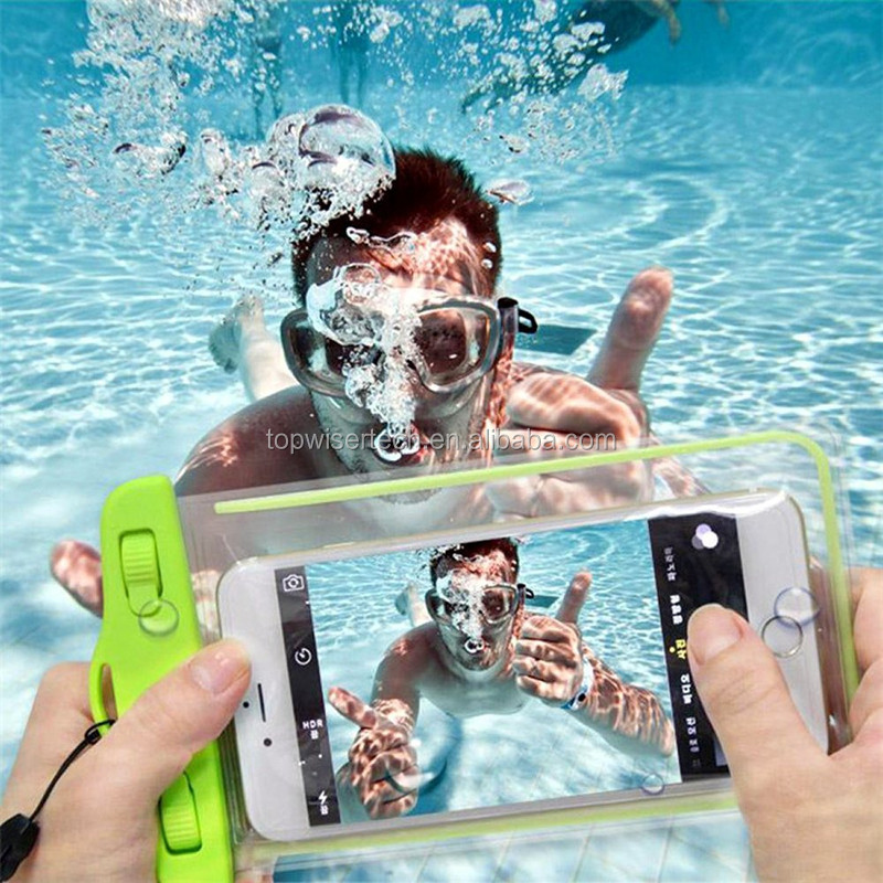High Quality cheap Universal Luminous WaterProof PVC Mobile Phone bag case/Pouch