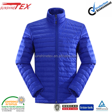 Blue western goose down jacket for men