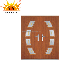 Commercial double leaf steel door price made in china