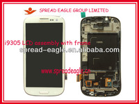 Hot Sale!!! Replacement lcd screen for samsung galaxy s3 i9300 i9305 lcd touch digitzer screen+frame