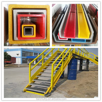 pultruded fiberglass square tube 50x50mm/frp platform structure handrail ladder etc