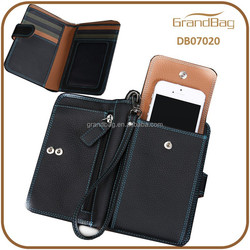 Hot Sale RRIDMulti-function Genuine Leather Mobile Phone Purse Wallet Clutch Bag for mens