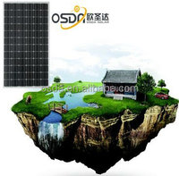 Solar panel with mono cell for PV power system 75w