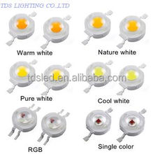 4000K - 5000K Day White High Power 1 watt LED 180lm Bridgelux BXCD Chip