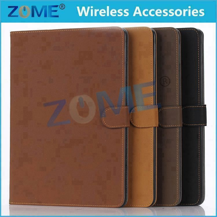 China Products Business Style Stripe Super Cool Flip Stand PU Flip Leather Case For iPad 6