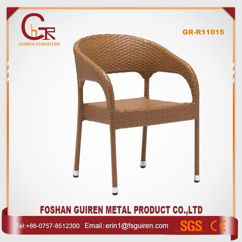 Hot sale graceful rattan wicker restaurant outdoor furniture