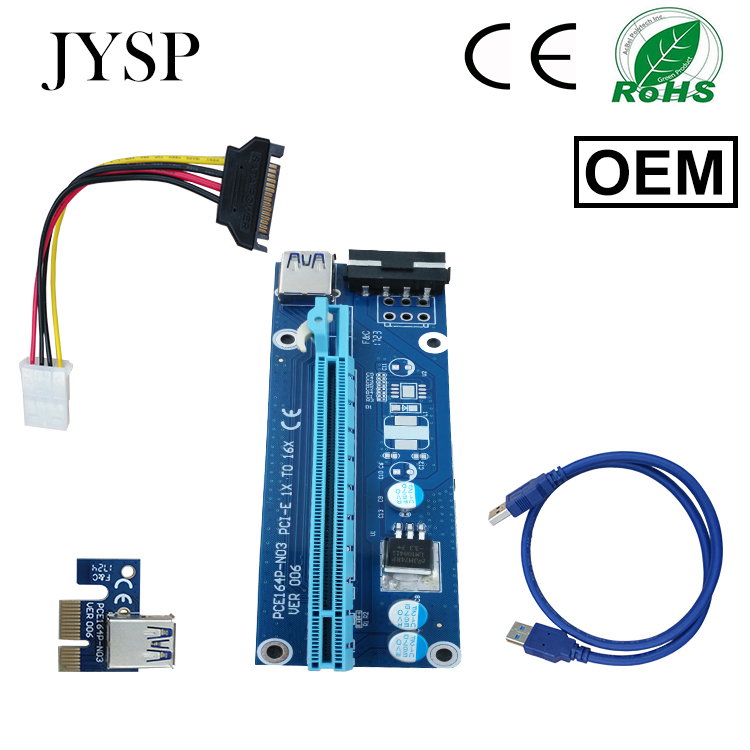 New design riser pci-e x1x16 USB 3.0 Data Cable SATA to 4Pin IDE Molex Power riser for ETH GPU/BTC mining