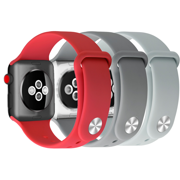 Hot new products sport band 실리콘 watch band strap rubber 대 한 apple