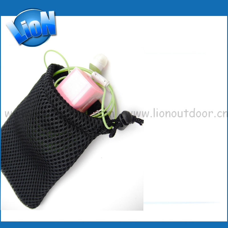Hot sale small mesh gift bag for power bank promotiom, good quality fast delivery