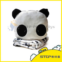 Cartoon Panda Plush Pillow with Blanket Customized Plush Toy Panda