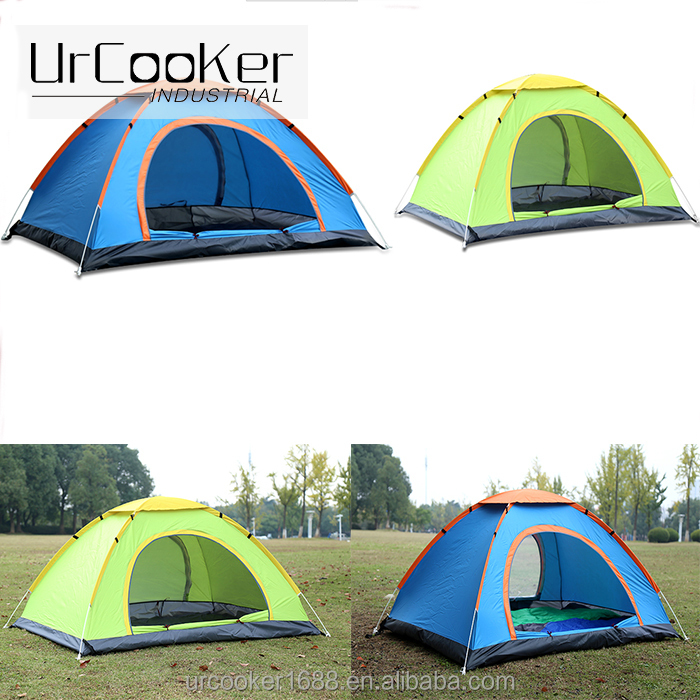 Factory Sale Directly Hiking Shelter 3-4 Person Waterproof Pop Up Dome Camping Backpacking Tent