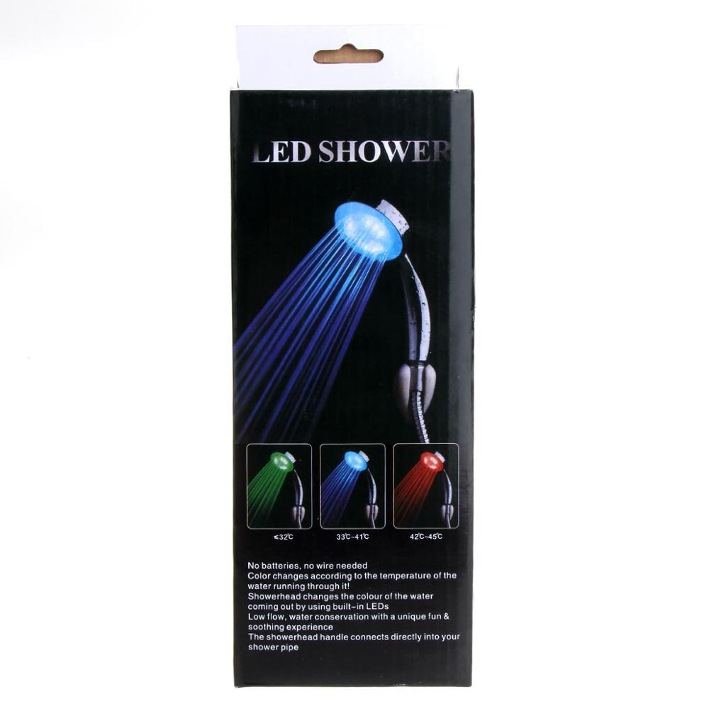 Factory Waterproof Temperature Sensor LED Shower Head With RGB Colors