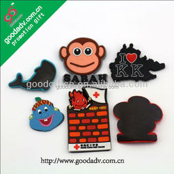 Promotional wholesale custom design 3d PVC Fridge magnets
