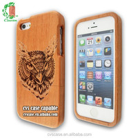 3D Engraving Special Design Natural Wood Case For Iphone 5s Case.