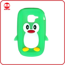 Fancy 3D Penguin Cartoon Style Rubber Skin Phone Accessory Case for C3