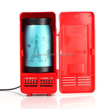 Desktop mini usb fridge with cooler and warmer function/portable mini fridge for Christmas gift