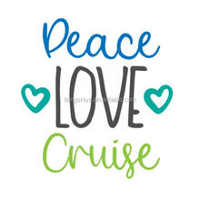Peace Love Cruise glitter heat transfer vinyl iron on for Tshirts