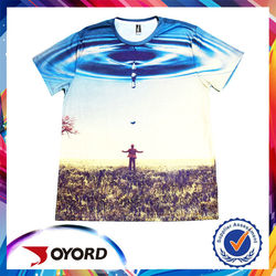 Full digital sublimation printing short sleeve jersey, quick dry t-shirt fabric