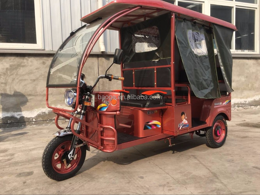 popular closed Electric auto tricycle bajaj tricycle rickshaw in philippines