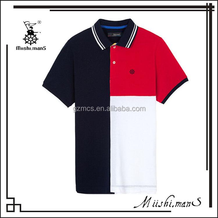 2016 korean fashion color combination man polo shirt for Polo shirt color combination