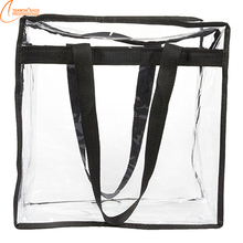 Simple design Clear PVC zipper closed for women tote bag